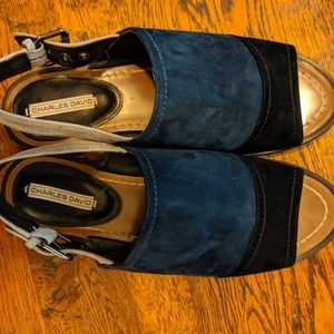 Charles David Shoes - Charles David Suede Flat Sandals 9